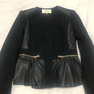 Zara Slim Wool bLazer Jacket in Black XS